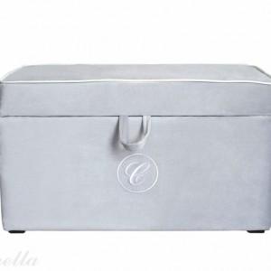 Kufer szary z linii romantycznej marki Caramella. Fot. Caramella