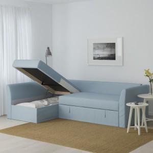 Narożnik Holmsund z funkcją spania i pojemnikiem. Fot. IKEA