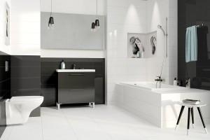 Piękna łazienka. Postaw na czerń