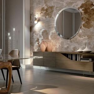 Lite drewno i szkło Murano to materiały, które mogą stworzyć styl glamour. Fot. Reflex