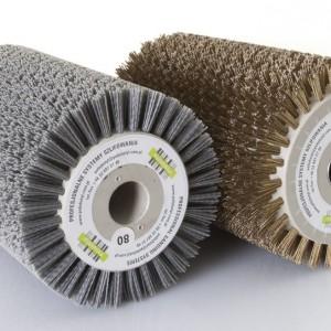 Szczotki walcowe z drutem stalowym i tyneksowym (występują w wersji z włosiem pojedynczym lub splecionym). Fot. PolishStyl