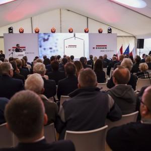 Ceremonia wbicia łopaty pod budowę fabryki EGGER w Biskupcu 25.10.2017