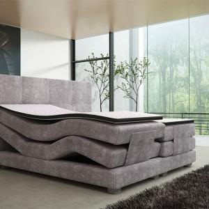 Łóżko kontynentalne Mario Electric z nowoczesnym stelażem elektrycznym. Fot. Comforteo