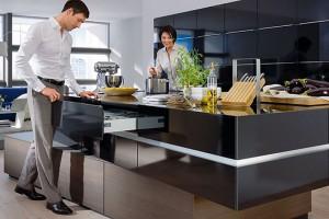 Szuflady w wyspie kuchennej - jak je funkcjonalnie zaprojektować?