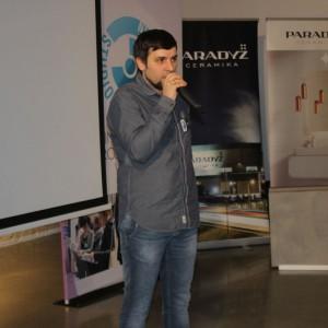 Piotr Stępniak, specjalista ds. szkoleń w firmie Ceramika Paradyż.