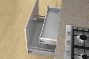 Jak poprawić funkcjonalność szuflady wewnętrznej w kuchni?