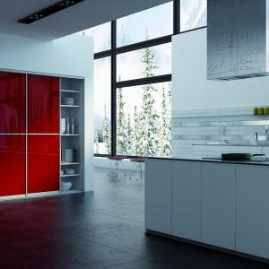 System drzwi przesuwnych Sevroll-System zastosowany w zabudowie kuchennej. Fot. Sevroll-System