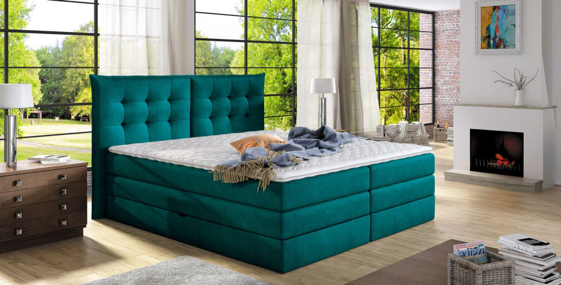 Łóżko Fendy firmy Wersal. Fot. Wersal