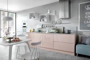 Kuchenna zabudowa na jedną ścianę - rozwiązanie do małych wnętrz