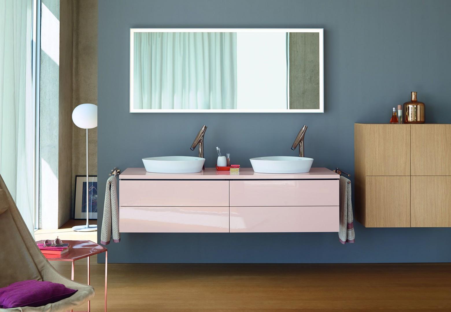 Kolekcja mebli łazienkowych L-Cube firmy Duravit. Fot. Duravit