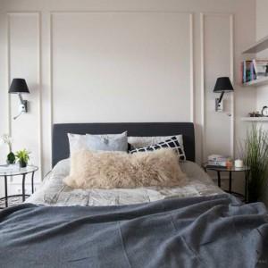 Tkaniny i rośliny to niezawodny i najtańszy sposob na wykreowanie miłego nastroju w sypialni. Fot. MGN
