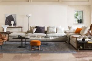 Sofy z półkami - jak urządzić funkcjonalny salon