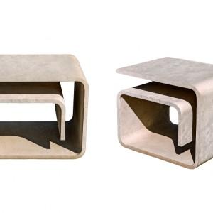 Stoliki wykonane z bazaltu. Fot. Granex