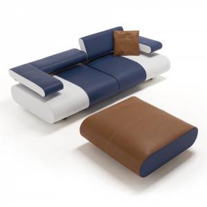 Czasem rolę stolików spełniają tapicerowane pufy. Fot. Egoitaliano