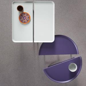 Rozsuwane stoliki – tace. Fot. Pianca