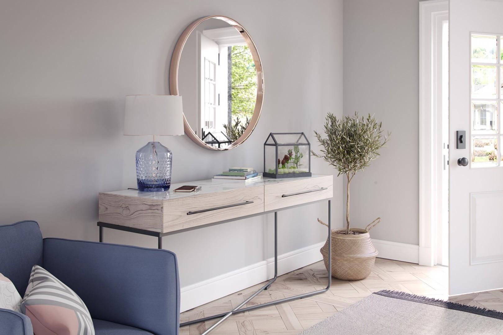 Toaletka z klasycznymi relingami. Fot. GTV