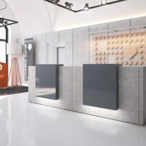 """Recepcja to coraz częściej wnętrza ciekawe i intrygujące, na pierwszy rzut oka często nie przypominające tradycyjnej """"poczekalni"""" biurowej. Fot. Mikomax Smart Office"""