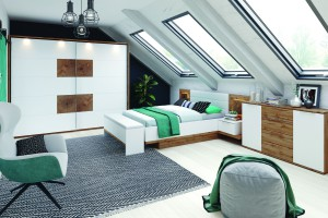 Dwukolorowe meble w sypialni - sposób na ciekawe wnętrze