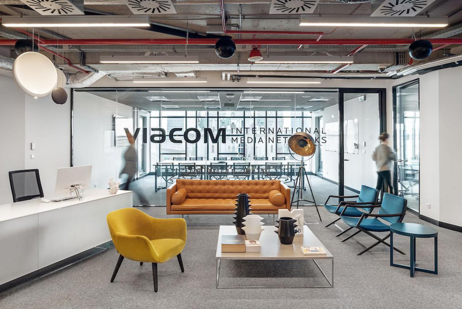 Wnętrze biura Viacom. Projekt: Mood Works. Fot. Mood Works