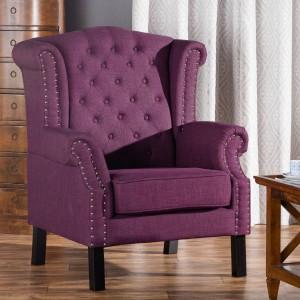 Fotel Winchester Violet. Fot. Dekoria.pl