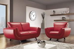 10 czerwonych dwuosobowych sof - meble na romantyczne Walentynki
