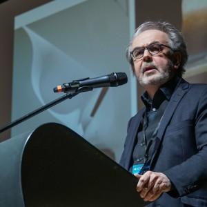 Wykład Rainera Mahlamäkiego, architekta, twórcy projektu Muzeum Historii Żydów Polskich w Warszawie, podczas 4 Design Days. Fot. PTWP