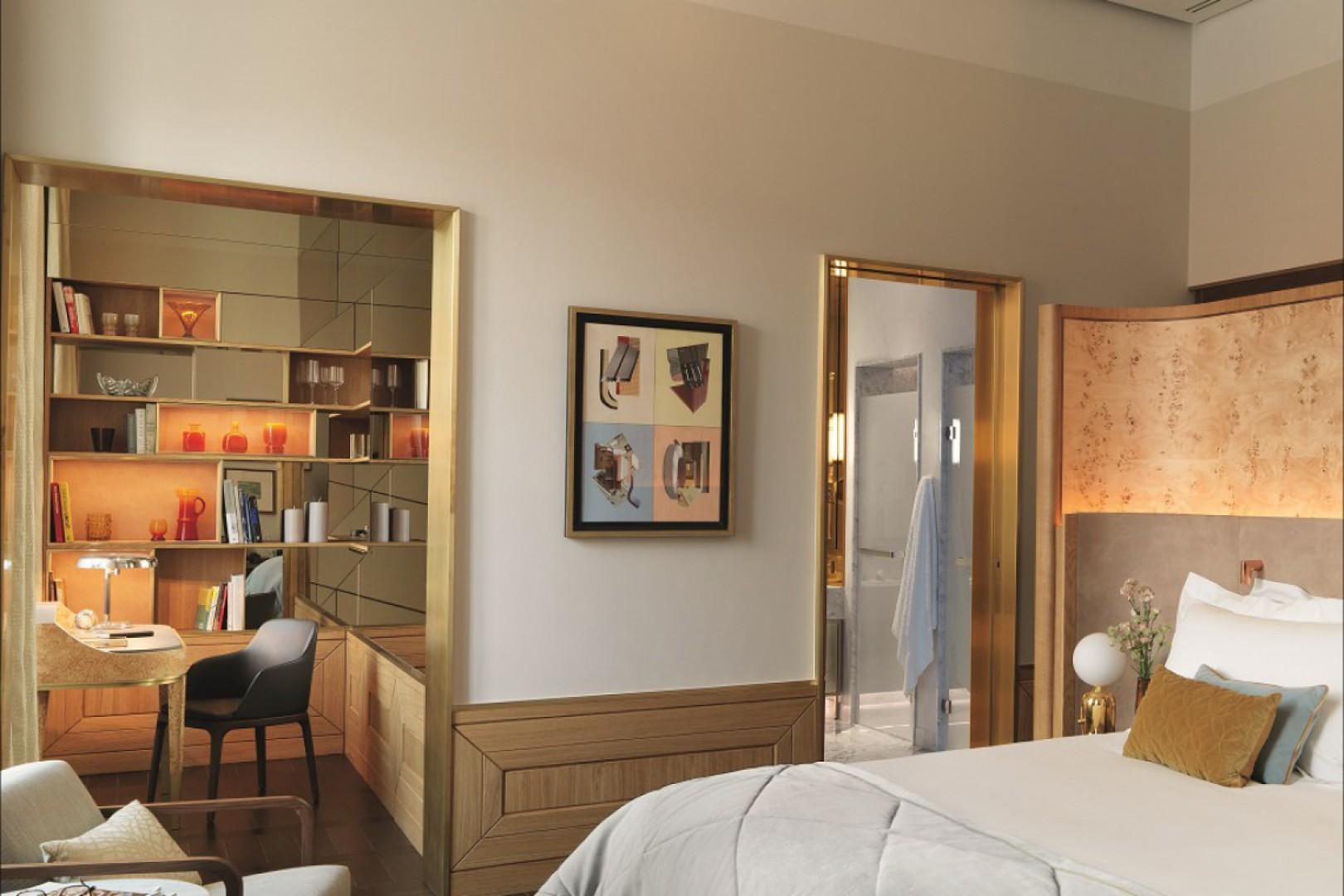 Wnętrza pokoi w hotelu Raffles Europejski Warsaw. Fot. Materiały prasowe