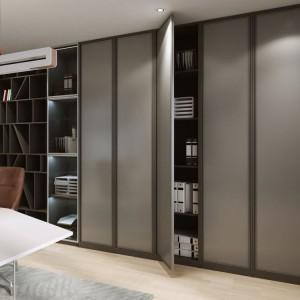 Drzwi przesuwne wykorzystywane są w szafach przeznaczonych do przechowywania dokumentów oraz w konstrukcjach ścianek służących do dzielenia przestrzeni typu open space. Fot. Komandor