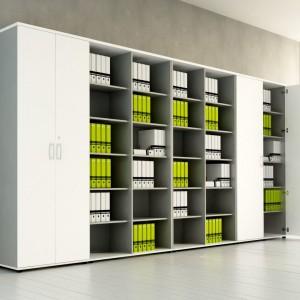 Funkcjonalne szafy to doskonały sposób na uporządkowanie nadmiaru dokumentów. Fot. MDD