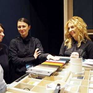 W spotkaniach na stoisku uczestniczyli również architekci i projektanci wnętrz. Fot. Davis