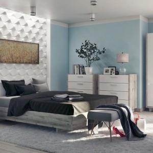 Sypialnia Lovio w prostym, ponadczasowym stylu. Fot. Layman