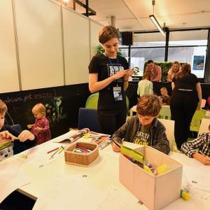 Strefa Dziecka = warsztaty odbywające się w ramach Akademii Dobrze Mieszkaj. Fot. PTWP