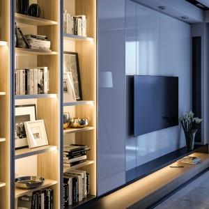 Taśmę LED można zainstalować aż w trzech korytarzach: górnym, dolnym lub wewnętrznym – co otwiera szeroki wachlarz możliwości aranżacyjnych. Fot. GTV