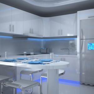 W kuchni dodatkowe oświetlenie meblowe warto zastosować tam, gdzie ważna jest nie tylko estetyka, ale i funkcjonalność. Na pewno warto doświetlić strefy robocze na blacie kuchennym. Fot. GTV