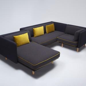 """Sofa """"Palafitte"""" (Projekt: Lucidi Pevere dla Comforty) może przybierać różne kształty, w zależności od potrzeb użytkownika. Fot. Comforty"""