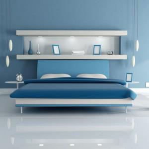 Oświetlenie podkreśla klimat sypialni. Fot. GTV