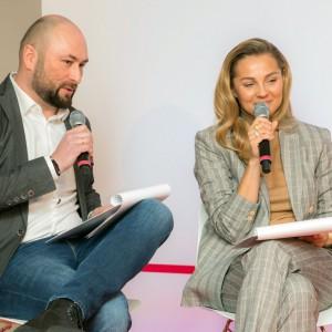 Marek Gonsior, dyrektor ds. marketingu salonów Agata, Małgorzata Socha, ambasadorka marki Agata. Fot. Agata