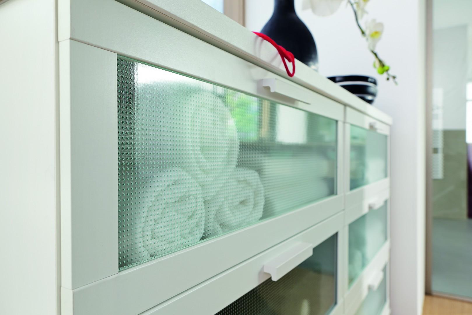 Szkło ornamentowe może być prawdziwą ozdobą mebli. Fot. Saint-Gobain-Glassolutions
