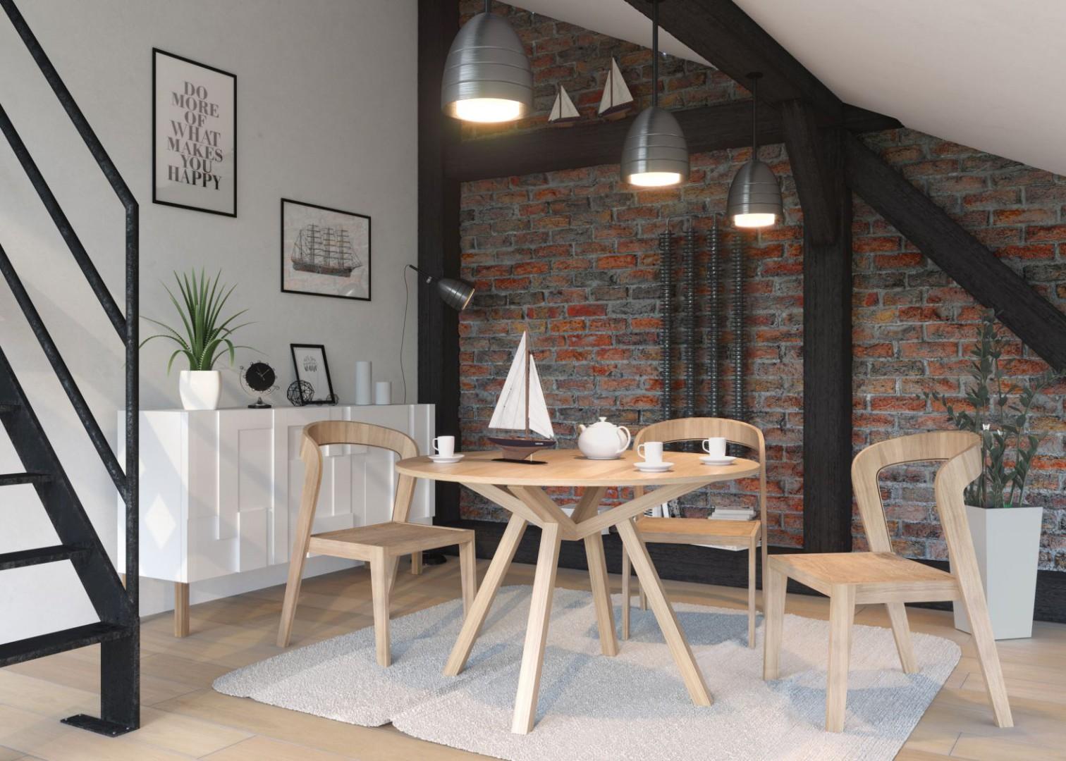 Drewniany stół Fortel. Fot. Rosanero