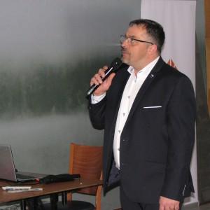 Krzysztof Kopyczyński, specjalista ds. kontaktów z architektami, Finishparkiet. Studio Dobrych Rozwiązań w Olsztynie - 14 marca 2018 r. Fot. Publikator