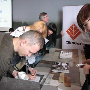 Na stoisku firmy Cerrad - partnera głównego. Studio Dobrych Rozwiązań w Olsztynie - 14 marca 2018 r. Fot. Publikator