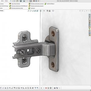 Nowa biblioteka okuć meblowych 3D CAD. Fot. DPS Software