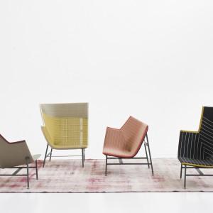 Fotele z oferty marki Moroso o nietypowej formie. Fot. Moroso