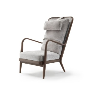 Klasyczny fotel z wysokim oparciem. Fot. Flexform