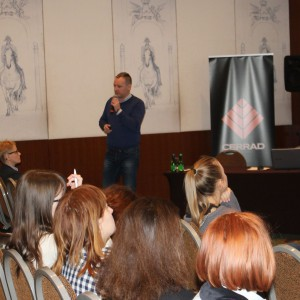 Prezentacja partnera: Dariusz Jędrzejczak, kierownik działu handlowego i marketingu, firma Mochnik. Fot. Publikator