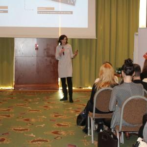 Wystąpienie eksperta: Agata Makowska, szef platformy do obsługi mikroinfluencerów Taglife, Stroer Media. Fot. Publikator