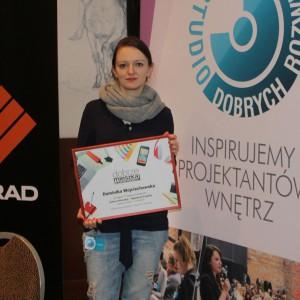 Dominika Wojciechowska - laureatka konkursu na najlepszy projekt wnętrza w województwie mazowieckim. Fot. Publikator