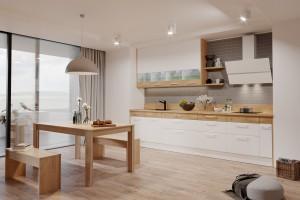 Mała kuchnia otwarta na salon - jak sprawić, żeby była funkcjonalna