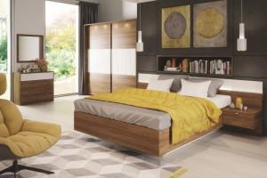 Łóżko i szafka nocna - rozwiązania typu dwa w jednym