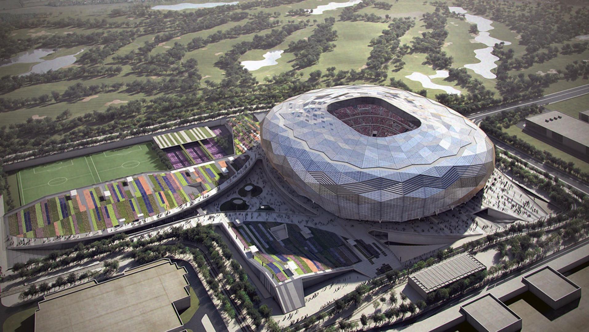 Stadion Quatar Foundation, na którym będą organizowane w 2022 roku Mistrzostwa Świata w Piłce Nożnej. Fot. Materiały prasowe